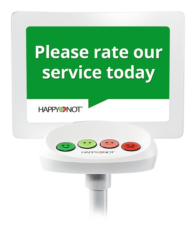 Happy or not. Please rate our service today