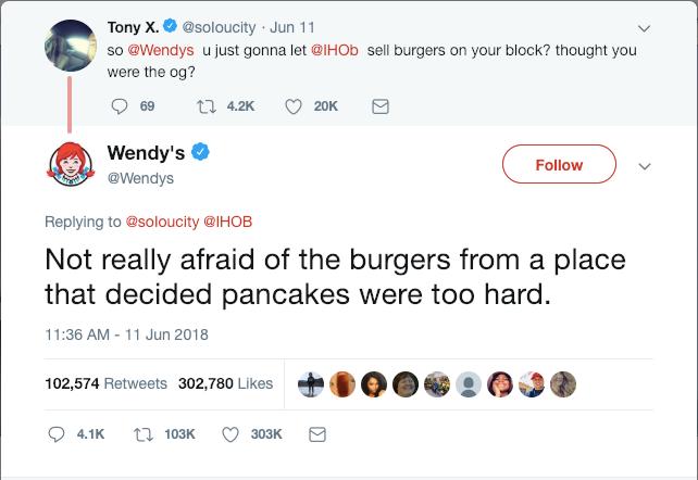 Wendy's Twitter humorous response