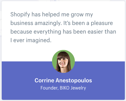 shopify.com customer's quote